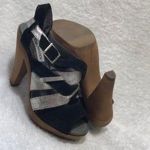 Steve Madden Shoes - Steve Madden Women Leather Heel Sandals
